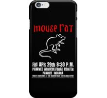 Mouse Rat - Concert Poster iPhone Case/Skin
