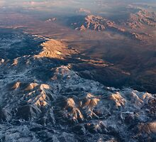Slow Sunrise Over the High Desert - Mojave With a Dusting of Snow by Georgia Mizuleva