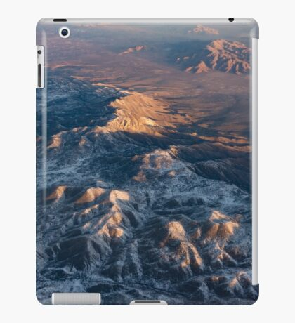 Slow Sunrise Over the High Desert - Mojave With a Dusting of Snow iPad Case/Skin