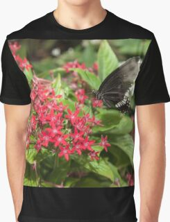 Singapore Butterfly Garden - Black Graphic T-Shirt