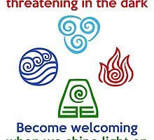 Welcoming in the Light - Iroh Quote by Grinalass
