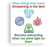 Welcoming in the Light - Iroh Quote Canvas Print