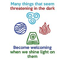 Welcoming in the Light - Iroh Quote Photographic Print