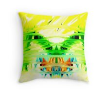 Yellow Psychedelia Throw Pillow