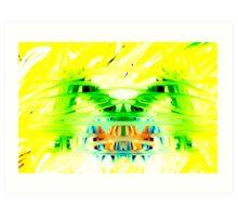 Yellow Psychedelia Art Print