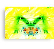 Yellow Psychedelia Canvas Print
