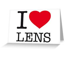 I ♥ LENS Greeting Card