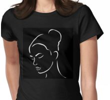 Face of a beautiful young woman  Womens Fitted T-Shirt
