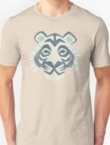 Animal Rainbow: White Tiger Unisex T-Shirt