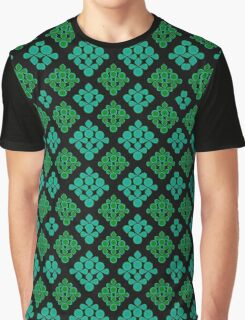 Turquoise/Green Patterns Graphic T-Shirt