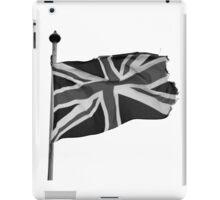 Great Britain flag, union jack Black & White iPad Case/Skin