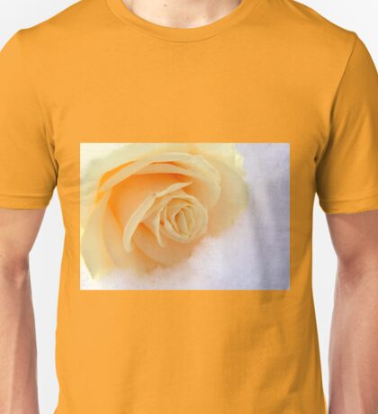 A rose on my heart has melted the snow Unisex T-Shirt