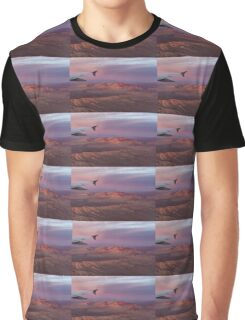 Loving the Window Seat - Pink Dawn Over the High Mojave Desert Graphic T-Shirt