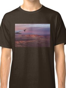 Loving the Window Seat - Pink Dawn Over the High Mojave Desert Classic T-Shirt