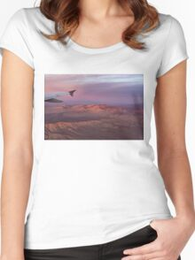 Loving the Window Seat - Pink Dawn Over the High Mojave Desert Women's Fitted Scoop T-Shirt
