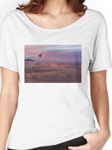 Loving the Window Seat - Pink Dawn Over the High Mojave Desert Women's Relaxed Fit T-Shirt