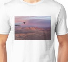 Loving the Window Seat - Pink Dawn Over the High Mojave Desert Unisex T-Shirt