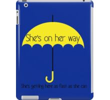 She's on her way iPad Case/Skin
