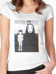 Glichy No Face - Spirited Away  Women's Fitted Scoop T-Shirt