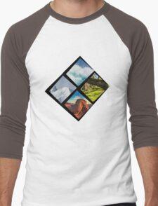 Nature diamond Men's Baseball ¾ T-Shirt