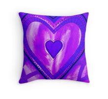 I Love Purple Throw Pillow