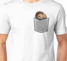 Lion sleeping in a pocket Unisex T-Shirt
