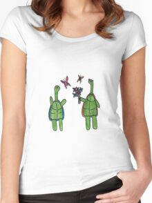 Turtle Couple Women's Fitted Scoop T-Shirt
