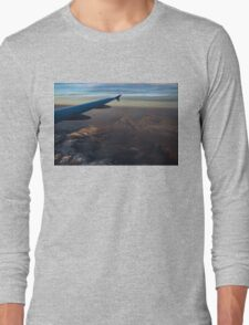 Loving the Window Seat - Sunrise Flight Over the High Mojave Desert  Long Sleeve T-Shirt