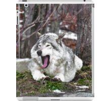 Just Yawning - Timber Wolf iPad Case/Skin