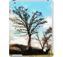 A digital painting of Trees in a Gale iPad Case/Skin