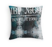 Handsome Boy Pilot 1986 Faded Throw Pillow