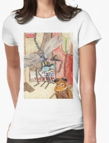 Detective Dragonfly Sir Humphrey Meets Cockroach Desiree Womens Fitted T-Shirt