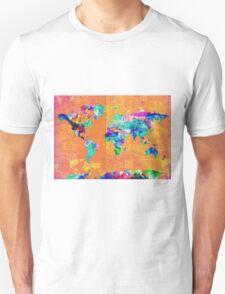 world map orange T-Shirt