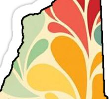 Floral New Hampshire Sticker