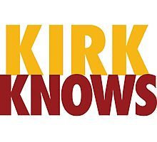 Kirk Knows DC Redskins Cousins Football by AiReal Apparel Photographic Print