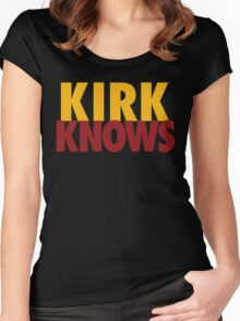 Kirk Knows DC Redskins Cousins Football by AiReal Apparel Women's Fitted Scoop T-Shirt