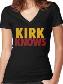 Kirk Knows DC Redskins Cousins Football by AiReal Apparel Women's Fitted V-Neck T-Shirt