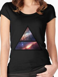 30 Seconds to Mars space logo Women's Fitted Scoop T-Shirt