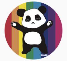 Rainbow Panda Hugs by sisaro