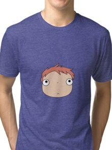 Natural Ponyo Tri-blend T-Shirt