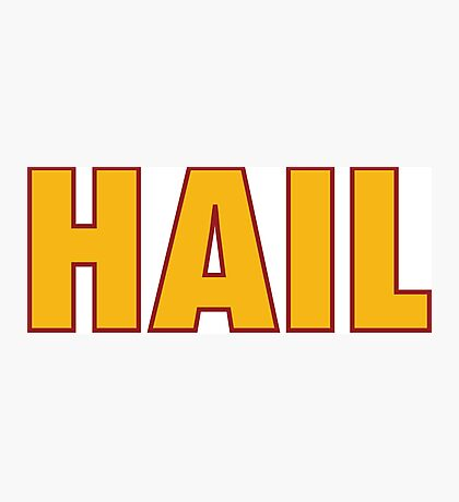 HAIL HTTR Redskins DC by AiReal Apparel Photographic Print