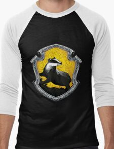 Hufflepuff Logo Men's Baseball ¾ T-Shirt