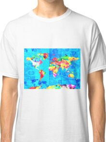 world map collage Classic T-Shirt