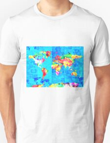 world map collage T-Shirt
