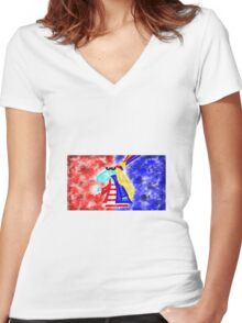 Would You Like Some Tea? Women's Fitted V-Neck T-Shirt