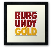 Burgundy & Gold Redskins DC Football by AiReal Apparel Framed Print