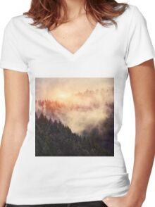 In My Other World Women's Fitted V-Neck T-Shirt