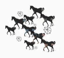 Horses One Piece - Short Sleeve