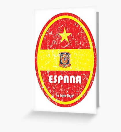 World Cup Football 8/8 - Espana (Distressed) Greeting Card