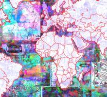 world map collage 3 Sticker